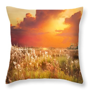 Tropical Savannah Throw Pillow