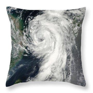 Tropical Storm Dianmu Throw Pillow by Stocktrek Images