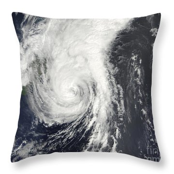 Tropical Storm Krovanh Throw Pillow by Stocktrek Images