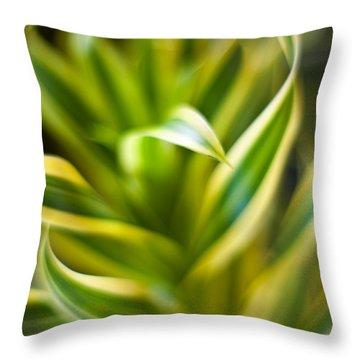 Tropical Swirl Throw Pillow