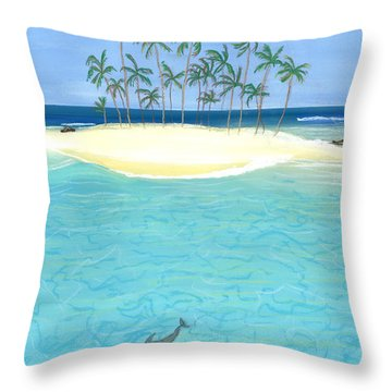 Tropical Tranquility  Throw Pillow by Jackie Novak