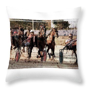 Throw Pillow featuring the photograph Trotting 3 by Pedro Cardona