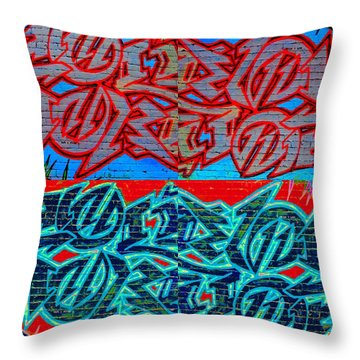 Trouble Tapestry 1 Throw Pillow by Randall Weidner