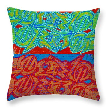 Trouble Tapestry 2 Throw Pillow by Randall Weidner