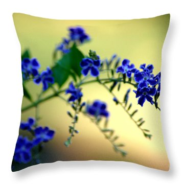 Throw Pillow featuring the photograph Tru Blu by Donna Bentley