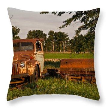 Truck And Tank 31 Throw Pillow by Douglas Barnett