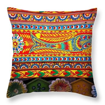 Truck Art Detail Throw Pillow
