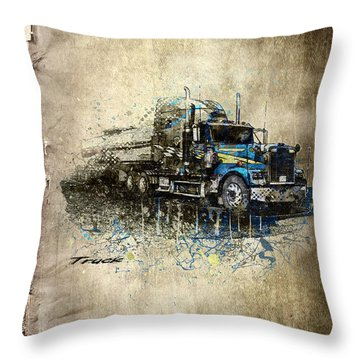 Truck Throw Pillow by Svetlana Sewell