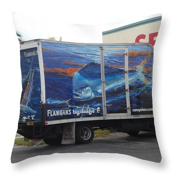 Truck Wraps Throw Pillow by Carey Chen