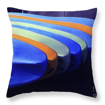 True Color Of Kayaks Throw Pillow
