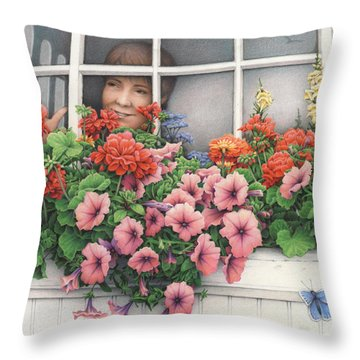True Colors Shining Through Throw Pillow by Amy S Turner