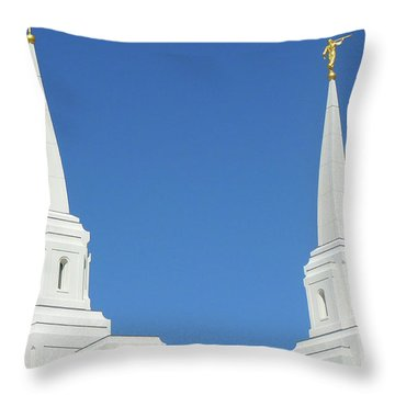 Trumpeting The Arrival Of The Lord Throw Pillow by Gary Baird