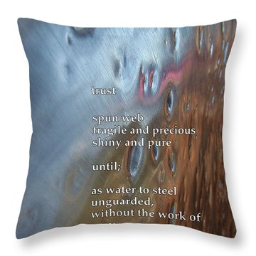 Trust Throw Pillow by Richard Donin