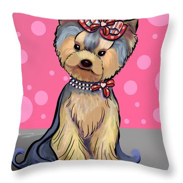 Tula The Beauty Throw Pillow