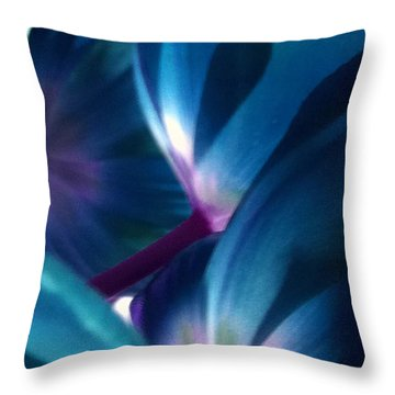 Tulip Blues Throw Pillow