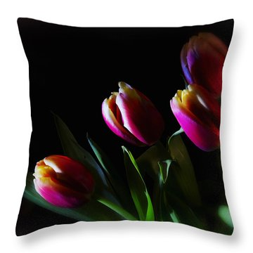 Tulip Dream Throw Pillow
