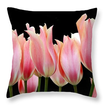 Tulips Throw Pillow by Nicola Butt