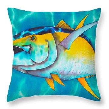 Tuna Throw Pillow by Daniel Jean-Baptiste