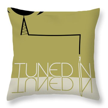 Tuned In Poster Throw Pillow by Naxart Studio