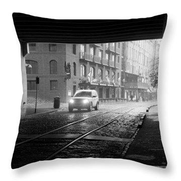 Tunnel I Throw Pillow by Lynn Palmer
