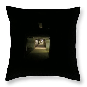 Tunnel Throw Pillow by Linda Hutchins