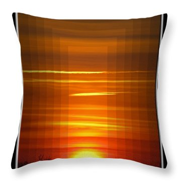 Tunnle Vision Throw Pillow by Debbie Portwood