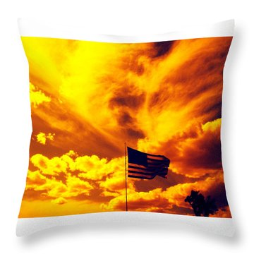 Turbulant America Throw Pillow