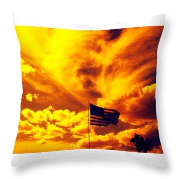 Turbulant America Throw Pillow