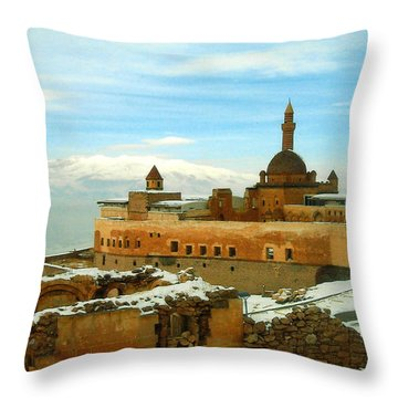 Throw Pillow featuring the photograph Turkish Fortress by Lou Ann Bagnall