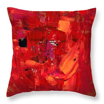 Turmoil In Tahrir Square Cairo Throw Pillow