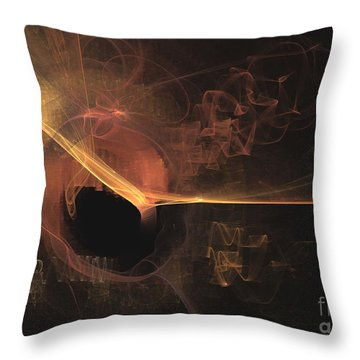 Turning Point - Abstract Art Throw Pillow
