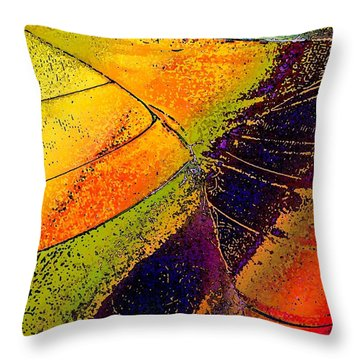 Throw Pillow featuring the photograph Turning Purple  by David Pantuso