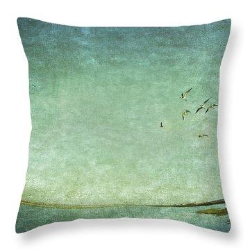 Turquoise World Throw Pillow