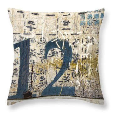 Twelve Left Throw Pillow by Carol Leigh
