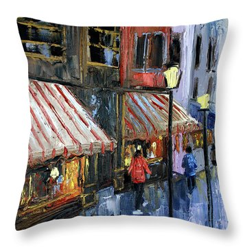 Twelve Street And Rine Throw Pillow by Anthony Falbo