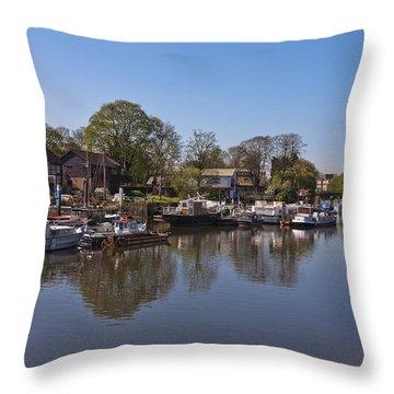 Throw Pillow featuring the photograph Twickenham Marina by Maj Seda