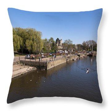 Throw Pillow featuring the photograph Twickenham On Thames by Maj Seda
