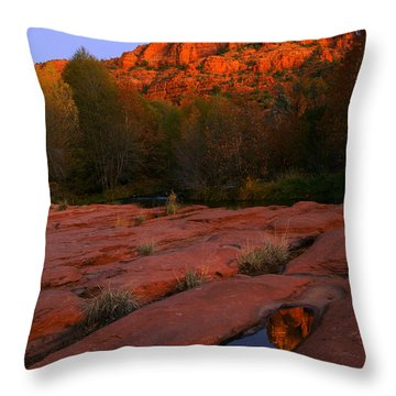 Twilight Cathedral Throw Pillow by Mike  Dawson