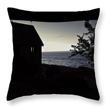 Twilight In Bw   Throw Pillow