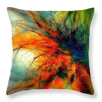 Twilight In The Garden Throw Pillow