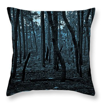Throw Pillow featuring the photograph Twilight In The Smouldering Forest by DigiArt Diaries by Vicky B Fuller