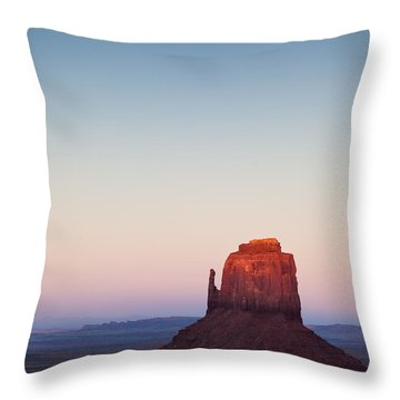 Twilight In The Valley Throw Pillow by Dave Bowman