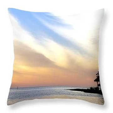 Twilight On The Gulf Throw Pillow