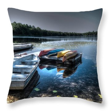 Twin Lakes Pa Throw Pillow by Guy Harnett