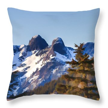 Twin Peaks Painting Throw Pillow