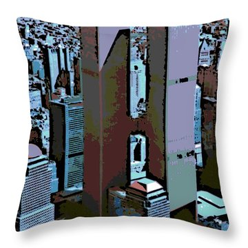 Twin Towers Throw Pillow by George Pedro