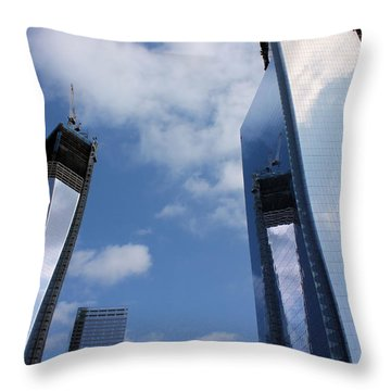 Twin Towers Throw Pillow by Kristin Elmquist