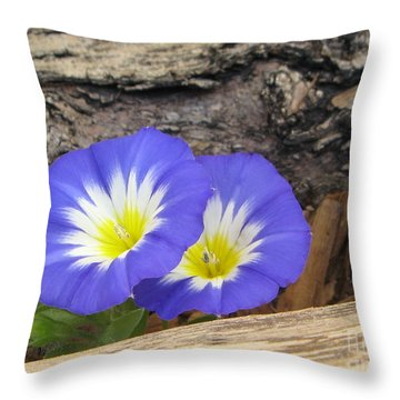 Throw Pillow featuring the photograph Twins by Tina Marie