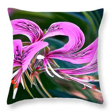 Twirled Hearts Throw Pillow by Byron Varvarigos