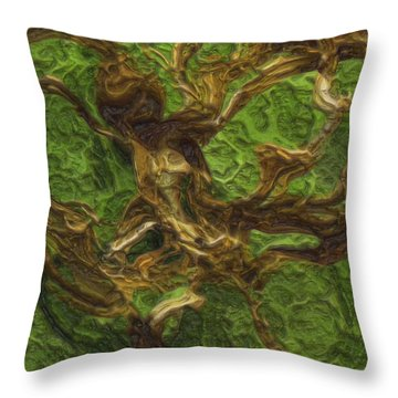 Twisted Throw Pillow by Jack Zulli